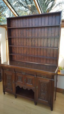 Beautiful Vintage possibly antique Welsh Dresser, Hand-carved, Sideboard Shelves