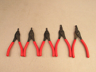 Snap-on Tools 5 pc Retaining Ring Pliers Set