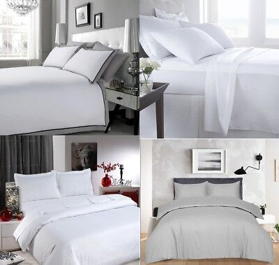 100% Egyptian Cotton 400 Thread Count Duvet Cover Set + Pillowcase Pair