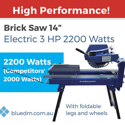 "BRICKSAW 14"" 3HP Electric Motor 2200 Watts *FREE DELIVERY*"