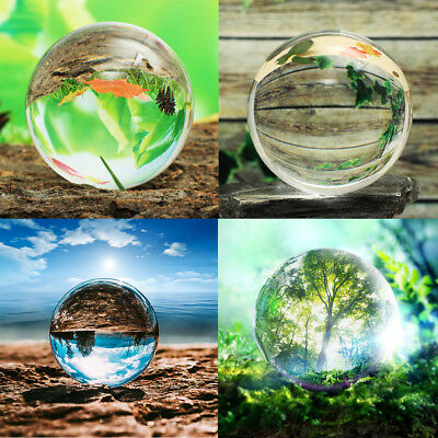 80-110mm K9 Clear Glass Crystal Ball Sphere Photography Photo Props Decor Gift