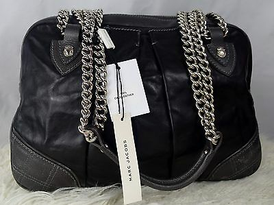 NWT MARC JACOBS Quilted & Pleated Bowler Calf Leather Shoulder Bag $1295