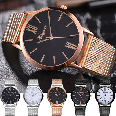 Classic Luxury Delicate Women's Quartz Alloy strap Band Watch Analog Wrist Watch