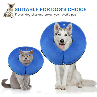 Protective Inflatable Collar Pet Cone E-Collar Soft Pet Dogs Recovery Collar L