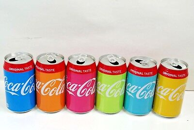 coca cola japan 2018 Color Bottle Series lot of 6 Aluminium empty 350ml can
