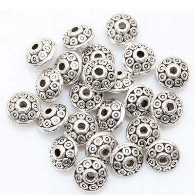 CO_ Wholesale 100 Antique Tibetan Loose Spacer Beads for DIY Jewelry Bracelet Ma