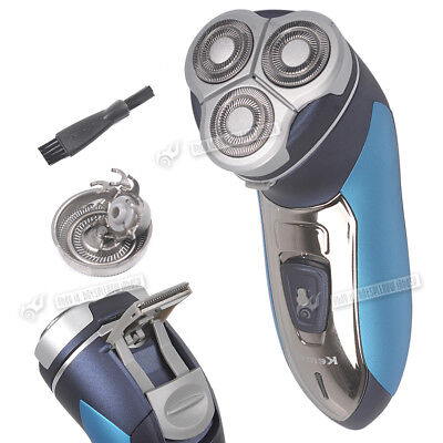 3in1 Mens Electric Rotary Shaver Rechargeable Beard Ear Nose Hair Trimmer Razor