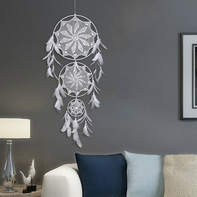Vintage Dream Catcher With Feathers Wall Hanging Decoration Decor Bead Ornament