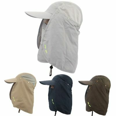 Legionnaire Hat Sun UV Protection Hat Fold Up Neck Flap Ear Face Cover Long Cap