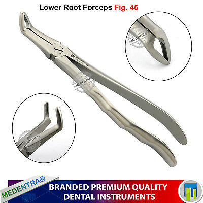 Surgical Dental Lower Root Tip Removal Tooth Forceps No.45 d'extraction Pinces