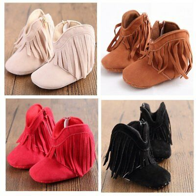 Newborn Baby Kids Boy Girl Boots Walkers Shoes Infant Toddler Soft Soled Boots