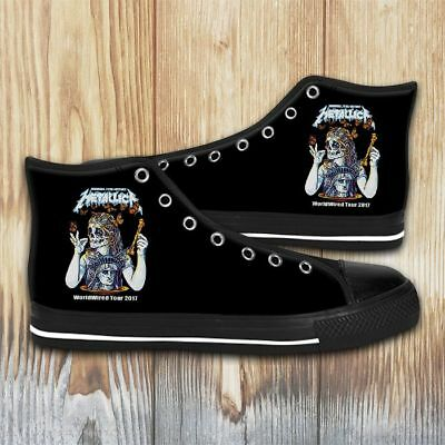 2017 Tour with Metallica Avenged Sevenfold Style Canvas Shoes