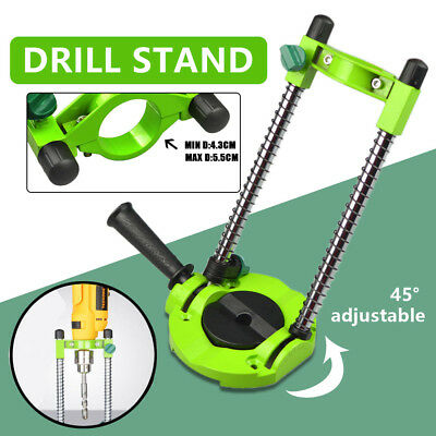 45°Adjustable Electric Drill Stand Holder Guide∅42mm Mobile Swivel Bracket Tool