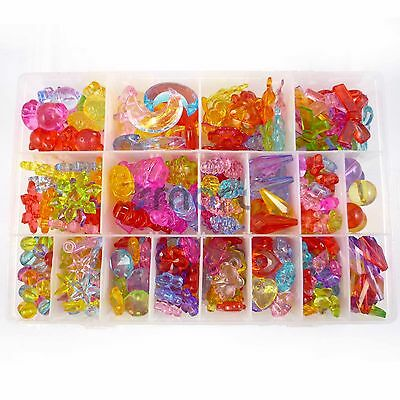 18 Designs Transparent Colorful Beads Kit For Kids Set Fun Jewellry Making Craft