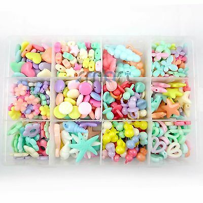 12 Designs Mixed Spring Colors Beads Kit For Kids Set Fun Jewellry Making Craft