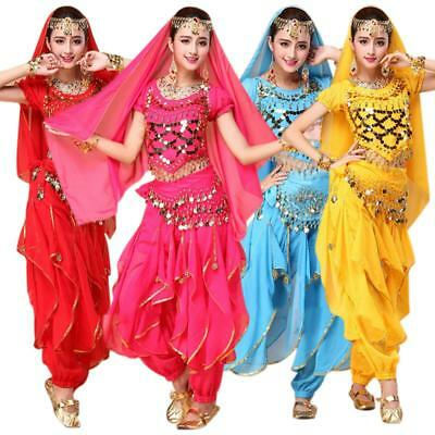 4Pcs/set Women Dancing Costume Sets Belly Dance Costume Bollywood Costume