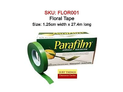 6 x Floral Tape Waterproof 27m - Parafilm, Shiny (NOT paper)