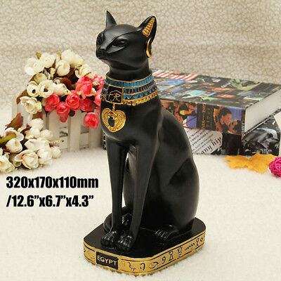 12.6'' Egyptian Bastet Bast Goddess Collectible Cat Figurine Statue Sculpture