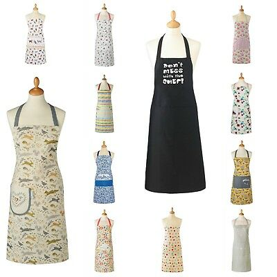 Cooksmart Cotton Apron with Pocket / PVC wipe Clean Apron, Loads of choice
