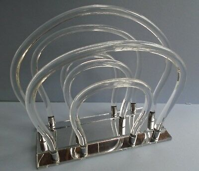 MID CENTURY MODERN Lucite Mirror Magazine Holder Rack Dorothy Simple Lucite Magazine Holder