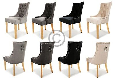 Terrific New Tufted Velvet Dining Chair Stud Knocker Beige Black Gamerscity Chair Design For Home Gamerscityorg