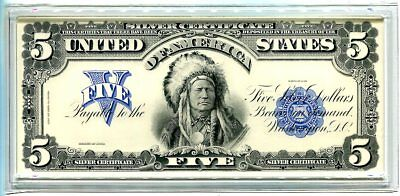 Official BEP $5, Series 1899 Chief Note Printed for 2001 Coin & Currency Set