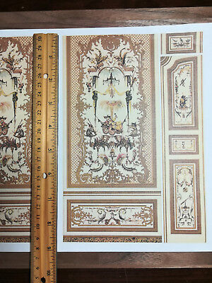 Dollhouse Miniature Gardens of Kashmir Wall Panels Mural Wallpaper 1:12 Scale