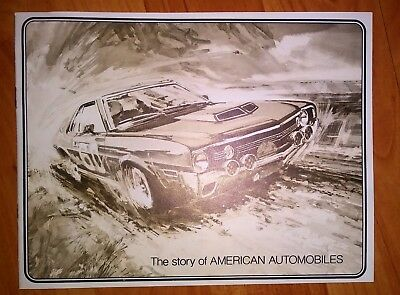 The Story of American Automobiles - Vintage 1970's AMC Ad Pamphlet **Mint Cond**