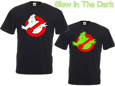 Mens/Unisex GHOSTBUSTERS Glow-In-The-Dark T-shirt  Kids & Adult, 80s, Retro