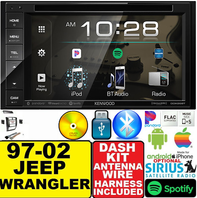 97-2002 jeep wrangler tj bluetooth bt cd dvd usb radio stereo opt  siriusxm