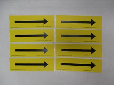 "(Lot of 8) Seton Black Arrow on Yellow Pipe Marker for O.D. 3/4"" thru 7-7/8"""