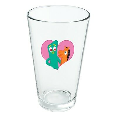 Gumby Pokey BFFs Best Friends Forever Novelty 16oz Pint Drinking Glass Tempered