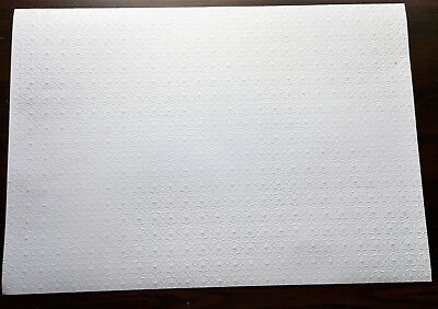 "Dollhouse Miniature White Embossed Textured Ceiling Paper 1:12 Scale 17 ""x 12"""