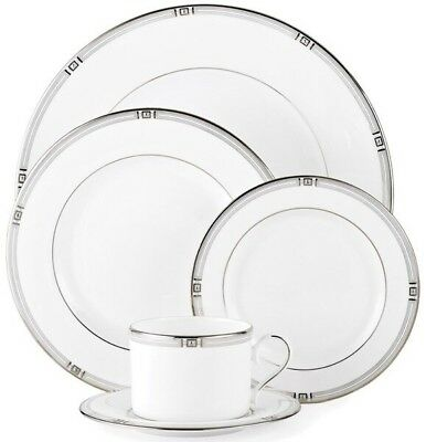 *Lenox* ~Westerly~ White China 5-piece Place Setting With Platinum Banding