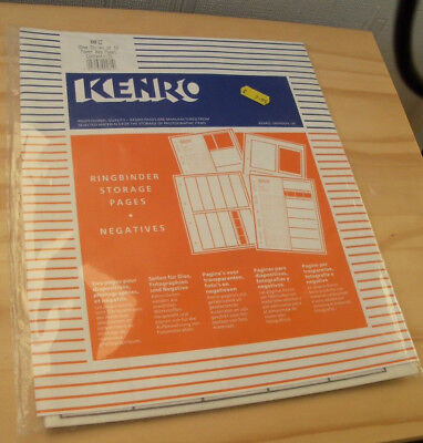 KENRO KNF12 TRANSLUCENT RINGBINDER STORAGE PAGES FOR NEGATIVES 25 PAGES knf 12