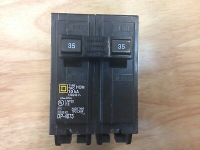 Square D Homeline 35 Amp 2-Pole Circuit Breaker, 120/240 VAC, HOM235