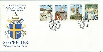 SEYCHELLES - VISIT of POPE JOHN PAUL II, 1986 First Day Cover