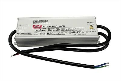 MeanWell HLG-185H-C1400B, 200W LED Driver for Samsung Stripes and Cree COB