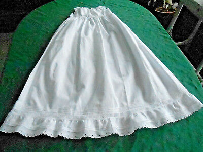 Antique Baby Slip, Handmade Victorian, Whitework And Bobbin Lace, 1880