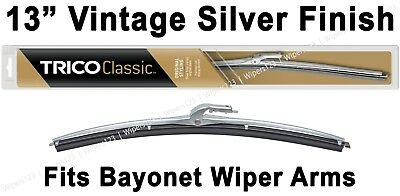 """Classic Wiper Blade 13"""" Antique Vintage Styling Silver Finish Trico - 33-130"""