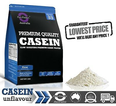 8Kg Raw  Micellar Casein Protein Powder - Night Release -  1 X 1Kg
