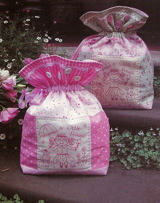 """SEWING PATTERN """"Little Princess"""" stitchery decorated bag Rivendale Collection"""