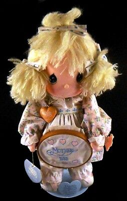 Precious Moments Collectible Doll KATIE Mother's Day 1986 with Tags & PM Stand