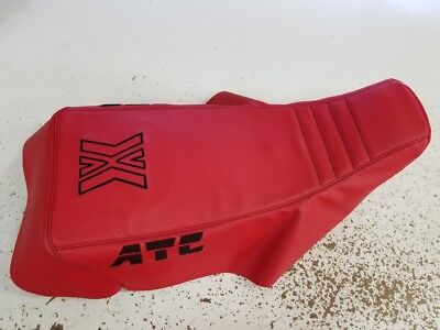 HONDA ATC 200x RED seat cover 1986 - 1987 CUSTOM COVER X ATC
