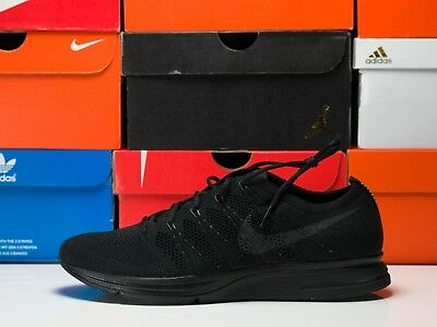 new concept fa8f4 f1bba Nike Flyknit Trainer Triple Black Anthracite Men s Running Shoes Size SZ 10  10.5