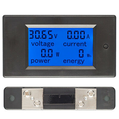 50A DC Digital Battery Tester Voltage Current Power Electric Meter 50A SH Tool