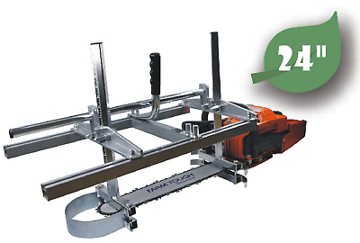 24 Inch Chainsaw Mill Planking Log Milling Lumber Cutting 14'' to 24'' Guide Bar