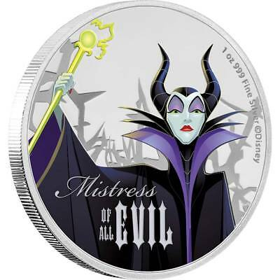 Maleficent -  Disney Villains 1 Oz Silver Coin 2018 Niue