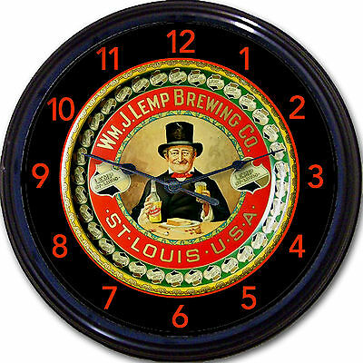 Wm J Lemp Brewing Co St Louis MO Beer Tray Wall Clock Ale Lager Brew New 10""