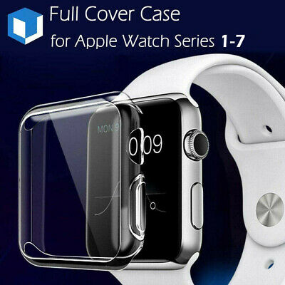 For Apple Watch Series 4/ 3/2/1 38/42mm Slim Full Body Clear Soft TPU Case Cover